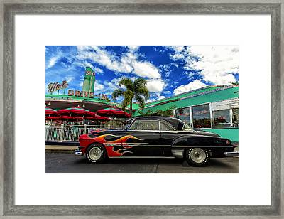 Mel's Drive In Framed Print by Bill Tiepelman