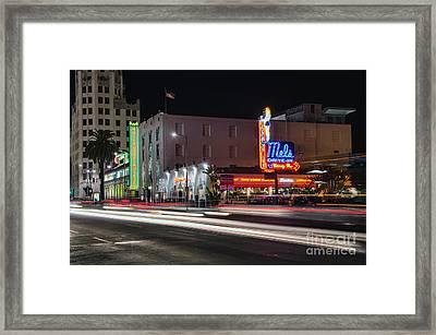 Mel's Drive-in Framed Print by Eddie Yerkish