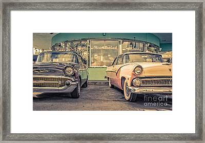 Mel's Drive-in Framed Print by Edward Fielding