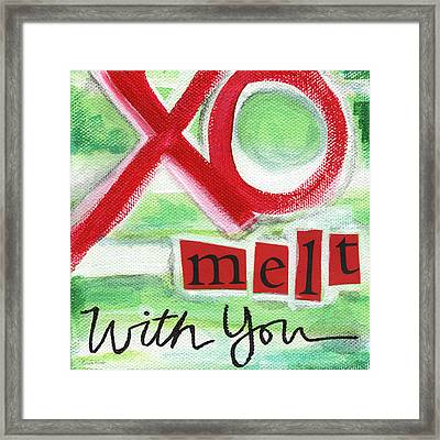 Melt With You Framed Print