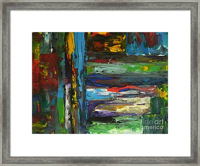 Framed Print featuring the painting Melted Crayons by Everette McMahan jr