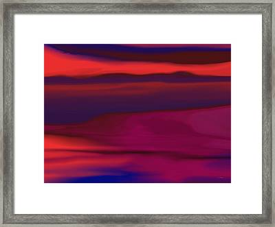Melted Landscape Framed Print by Tim Stringer