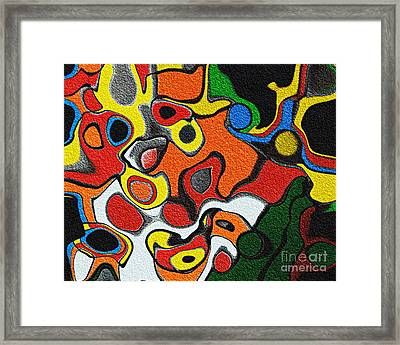 Melted Rubiks Cube Framed Print