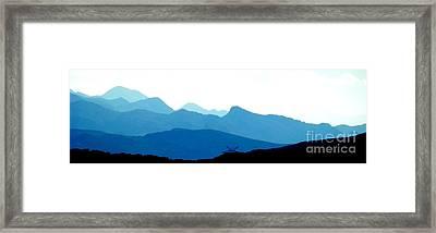 Melting Blues Framed Print