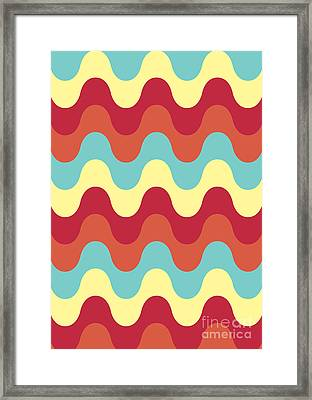 Melting Colors Pattern Framed Print