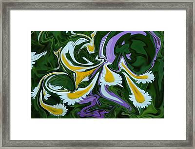 Melting Daisies Framed Print by Aimee L Maher Photography and Art Visit ALMGallerydotcom