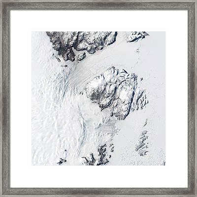 Melting Greenland Glaciers Framed Print