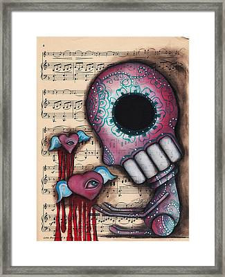 Melting Hearts  Framed Print by Abril Andrade Griffith