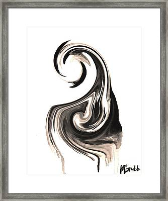 Melting In Ink Framed Print by Michael Grubb
