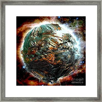 Melting Planet Framed Print by Bernard MICHEL