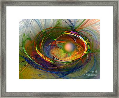 Melting Pot-abstract Art Framed Print by Karin Kuhlmann