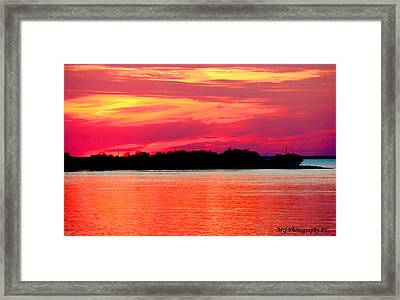 Framed Print featuring the photograph Melting Sky  by Marty Gayler