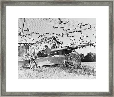 Members Of A Field Artillery Battery Framed Print