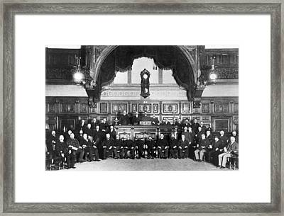 Members Of Sf Stock Exchange Framed Print by Underwood Archives