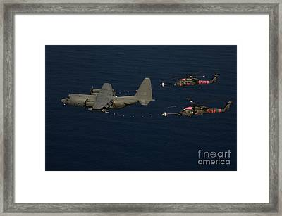 Members Of The 129th Rescue Wing Framed Print by Stocktrek Images