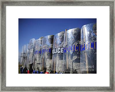 Members Of The 9th Security Forces Framed Print by Stocktrek Images