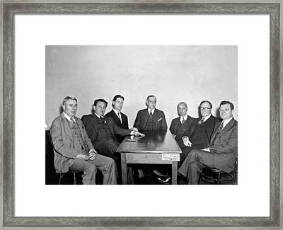 Members Of The Nra Board Framed Print by Underwood Archives