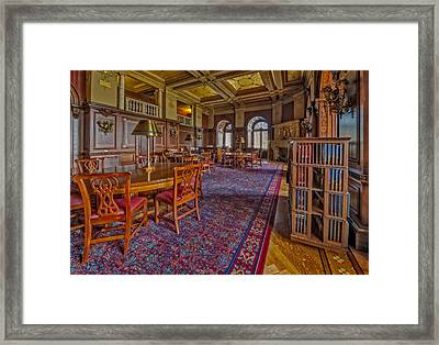 Members Room Library Of Congress Framed Print by Susan Candelario
