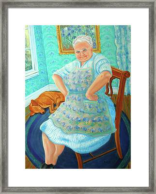 Framed Print featuring the painting Memere by Dwain Ray