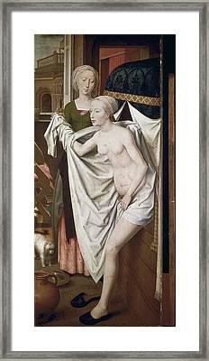 Memling, Hans 1433-1494. Bathsheba Framed Print by Everett