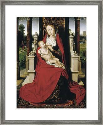 Memlinghans 1433-1494. Madonna. 1475 Framed Print by Everett