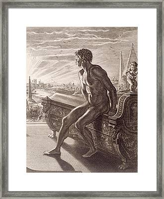 Memnon's Statue Framed Print by Bernard Picart