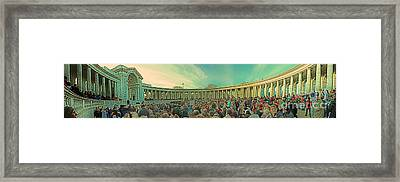Memorial Amphitheater At Arlington National Cemetery Framed Print by Tom Gari Gallery-Three-Photography
