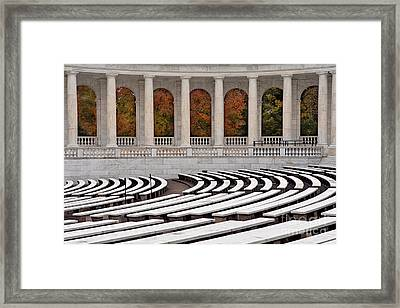 Memorial Amphitheater Framed Print by Jerry Fornarotto