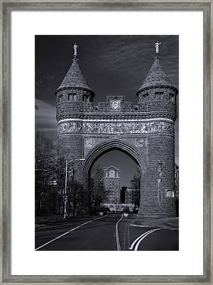 Memorial Arch Hartford Connecticut Framed Print