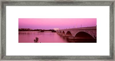 Memorial Bridge, Washington Dc Framed Print