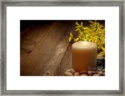Memorial Candle Framed Print
