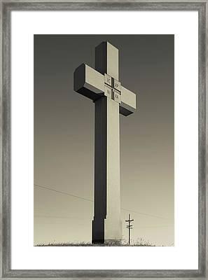 Memorial Cross To Spanish Father Juan Framed Print