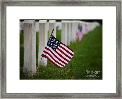 Memorial Day - Fort Snelling National Cemetery Framed Print