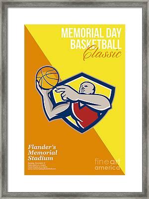 Memorial Day Basketball Classic Poster Framed Print by Aloysius Patrimonio