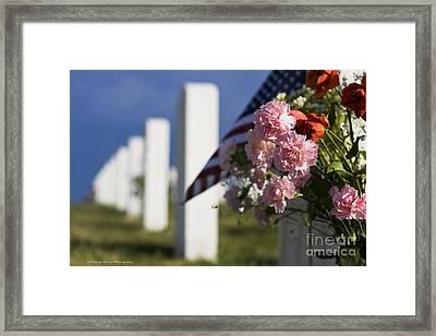 Memorial Day Beauty In The Sacrifice Framed Print by Wayne Moran