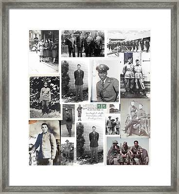 Memorial Day Collage Framed Print by Eric Edelman