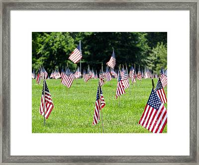 Framed Print featuring the photograph Memorial Day by Ed Weidman