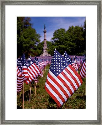 Memorial Day Flag Garden Framed Print by Rona Black