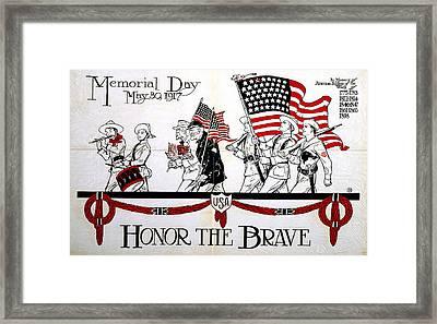Memorial Day Poster Framed Print