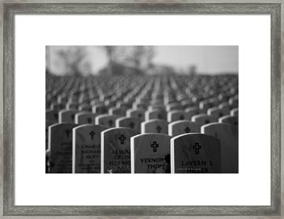 Memorial Day We Remember Framed Print by Wayne Moran
