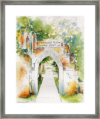 Memorial Gates Framed Print by Pat Katz