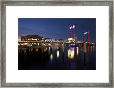 Memorial Lightshow Framed Print by Eric Gendron