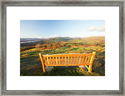 Memorial Seat On Orrest Head Framed Print by Ashley Cooper