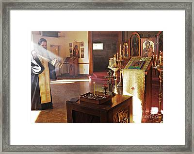 Memorial Service Framed Print by Sarah Loft