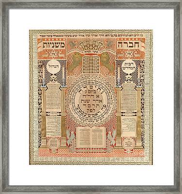 Memorial Tablet And Omer Calendar  Framed Print by Celestial Images