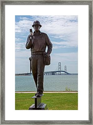 Memorial To Bridge Workers Framed Print by Jim West
