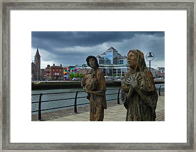 Memorial To The Famine Victims Framed Print