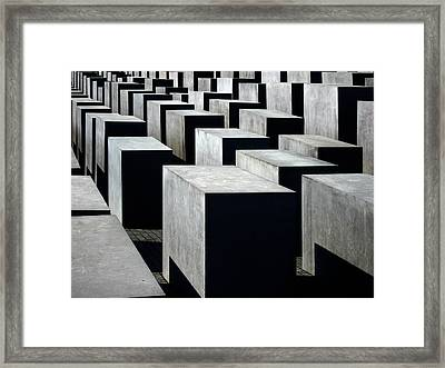 Memorial To The Murdered Jews Of Europe Framed Print by RicardMN Photography