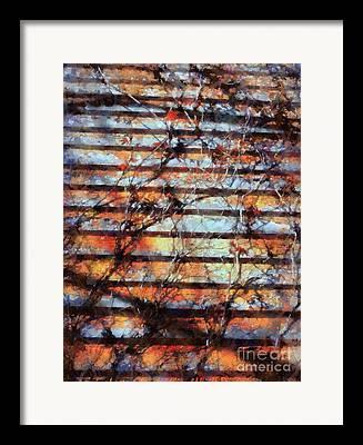 Clapboard House Digital Art Framed Prints