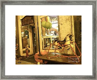 Framed Print featuring the photograph Memories For Sale by Geri Glavis